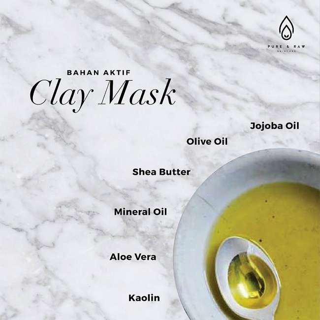 bahan aktif acne clay mask