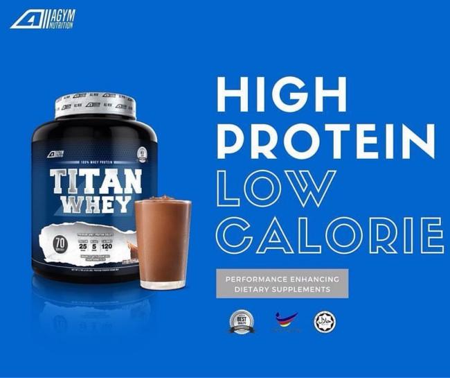 titan whey adalah protein tanpa gula untuk bina otot badan