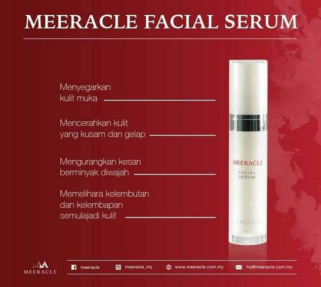 meeracle facial serum menganjalkan kulit wajah dan memutihkan
