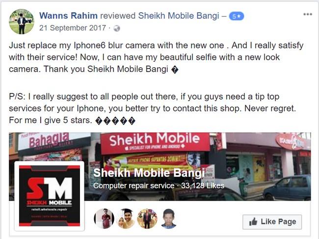 Mencari kedai Repair Smartphone murah di Bangi