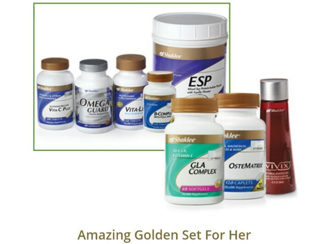 shaklee amazing golden set for her