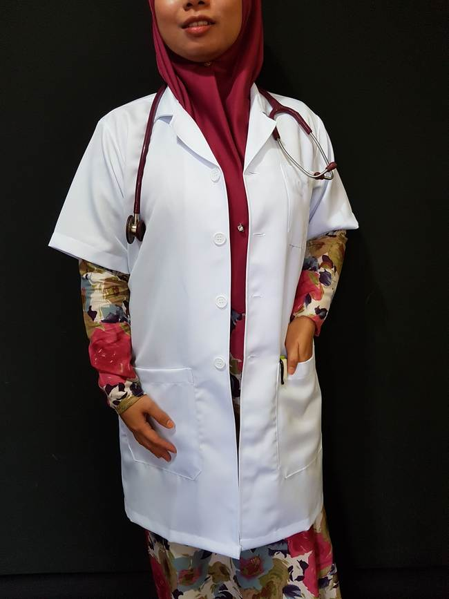 labcoats with front pockets