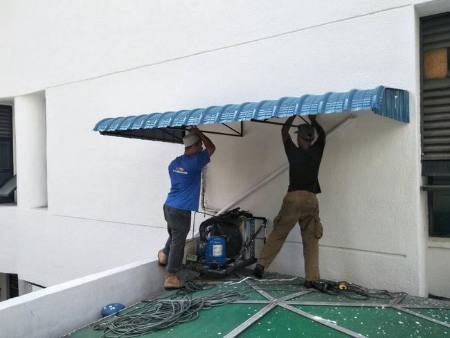 pemasangan awning