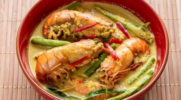 udang galah masak lemak cili padi masakan laut yang sedap