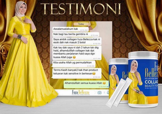 feedback pelanggan fuza belleza