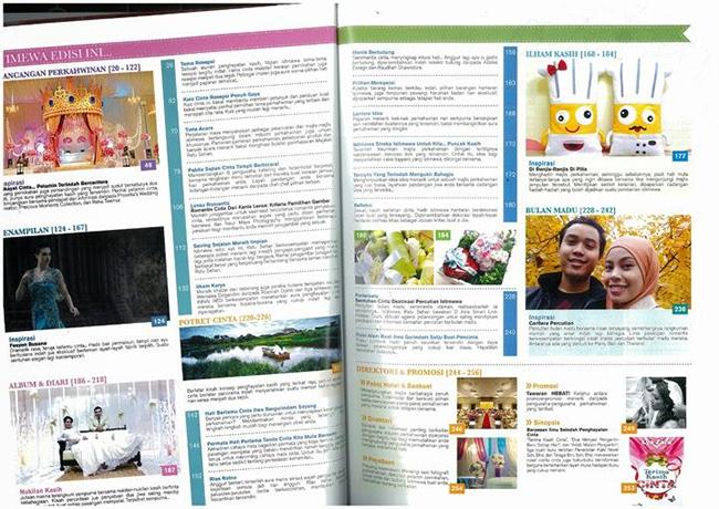 Menu Majalah Perkahwinan No 1 Malaysia Ratu Sehari