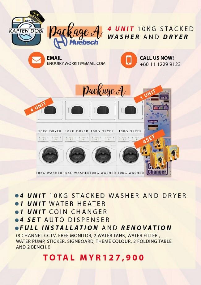 pakej A tips mulakan bisnes dobi cucian sendiri