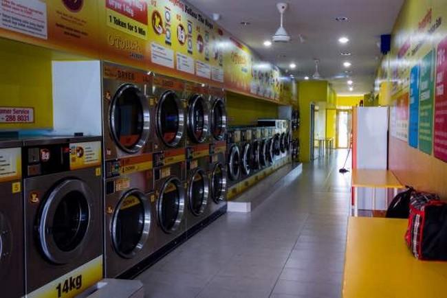 pemasangan mesin bisnes dobi cucian sendiri