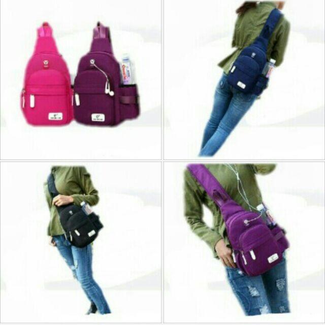 promosi dompet dan bag chest pack unisex terbaik
