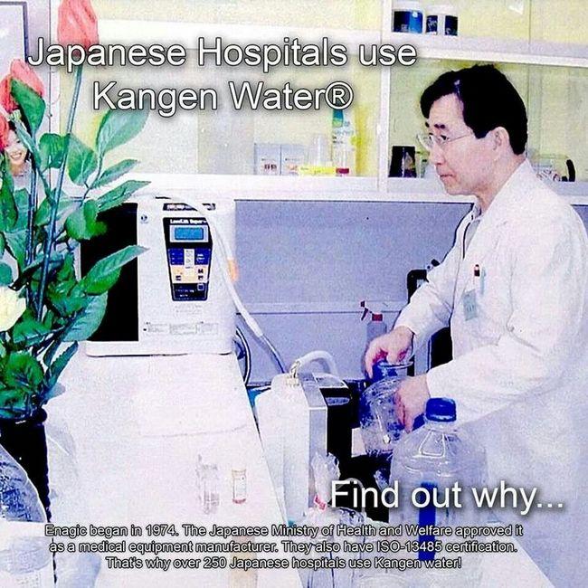 kangen water digunakan oleh doktor jepun