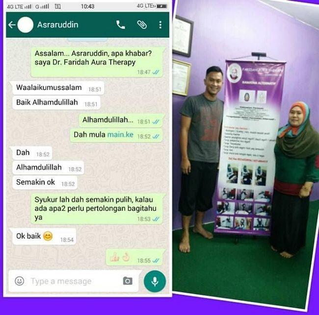 testimoni pengunjung dr faridah aura therapy