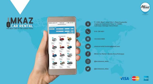 langkah booking online layari website kereta sewa murah di Cyberjaya