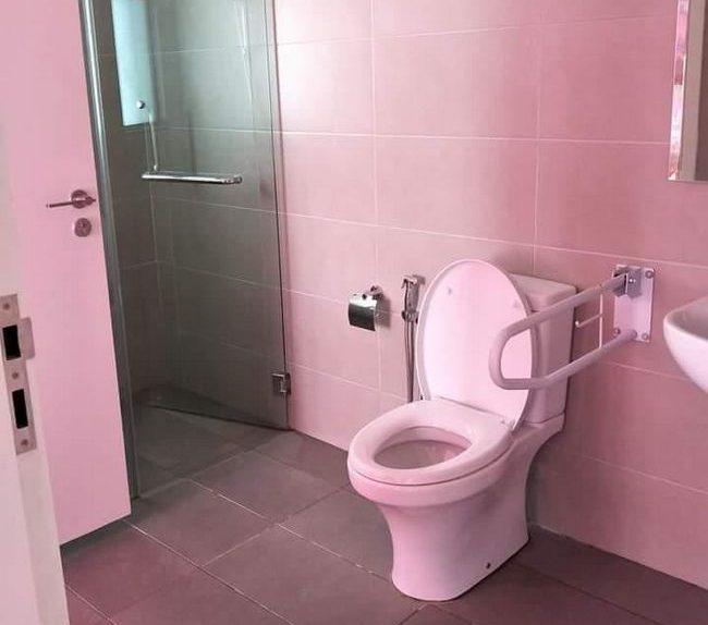 homestay murah di jb toilet terbaik