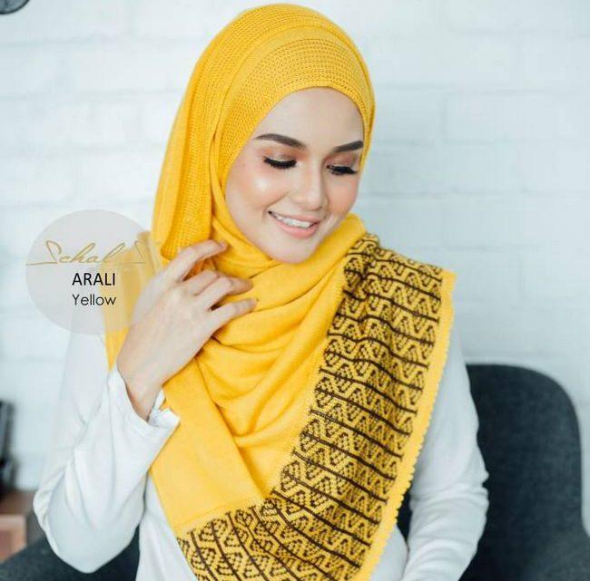 instant shawl schals arali yellow