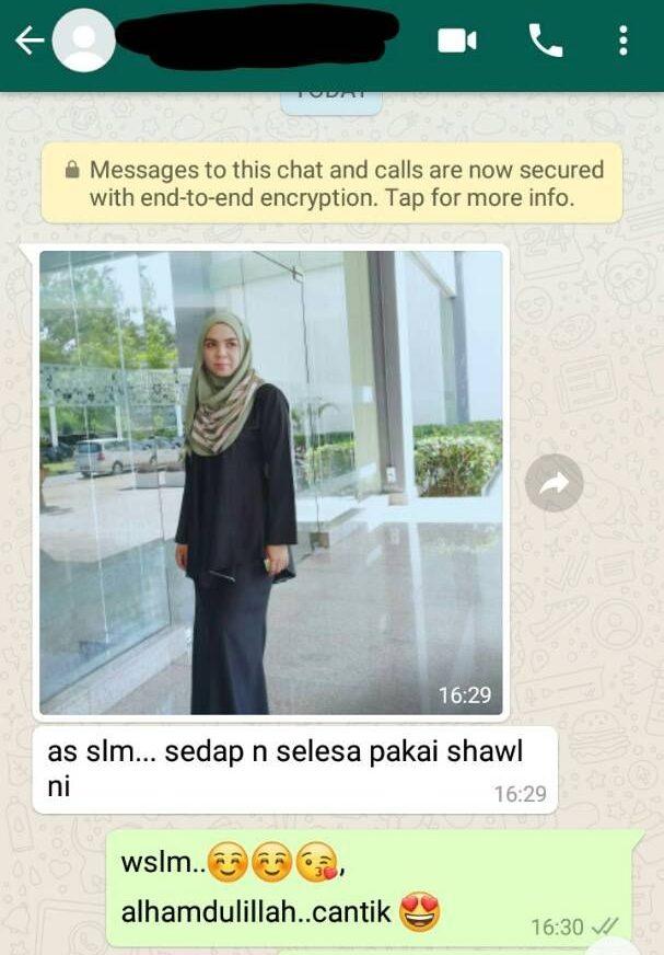 testimoni tudung instant shawl
