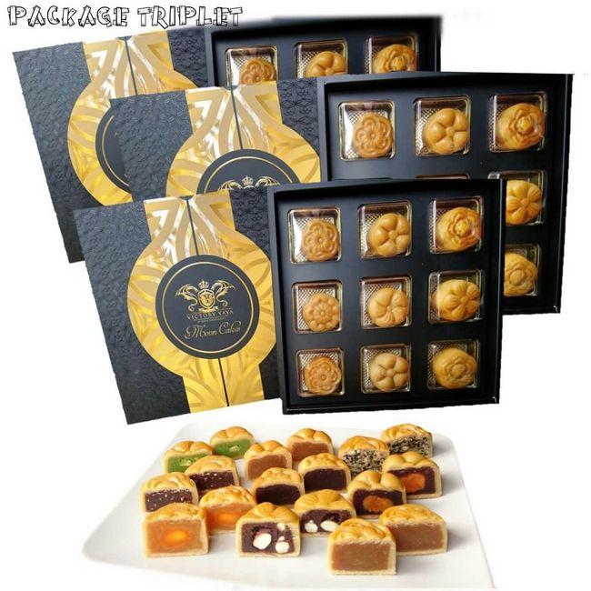 traditional triplet package kuih bulan tersedap