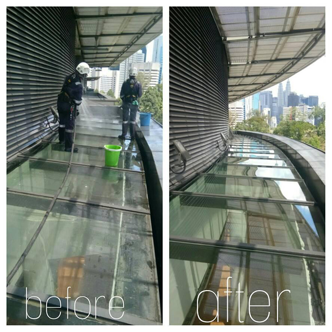 High Rise Windows and External Facade Cleaning After
