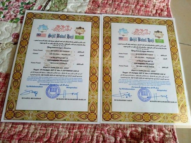 sijil badal haji