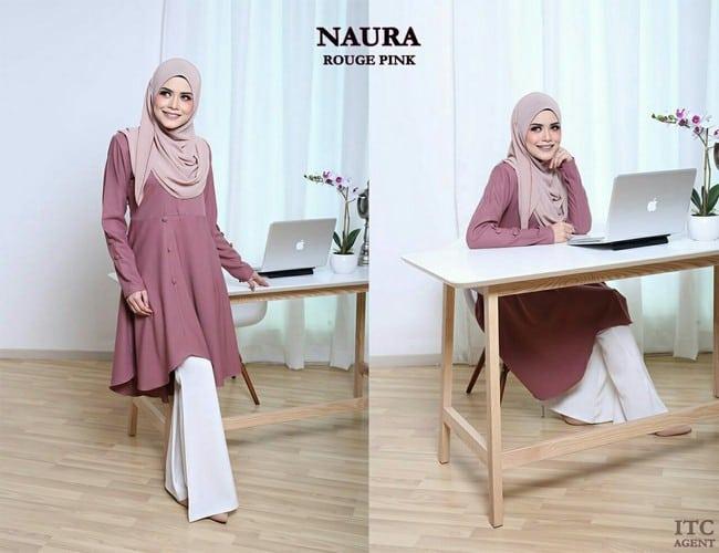 naura pink blouse