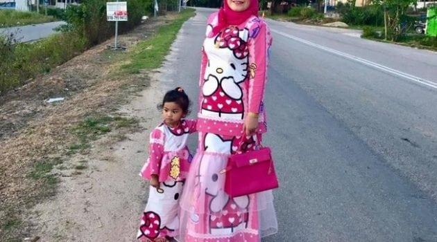 baju kurung set ibu dan anak murah 18