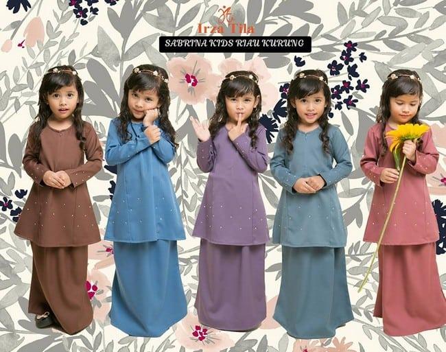 set baju kurung cantik kanak kanak