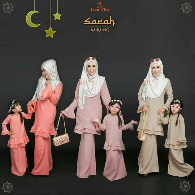 koleksi sarah kurung baju kurung set ibu dan anak murah