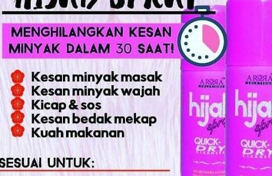 hijab spray tudung