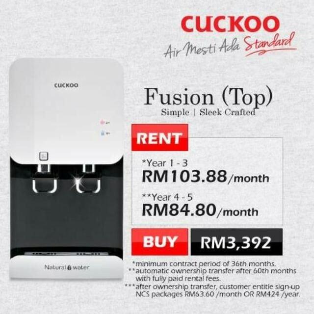 penapis air cuckoo fusion murah