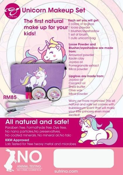 make up organik pertama untuk kanak – kanak
