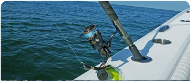 tali pancing sensitif dengan ikan