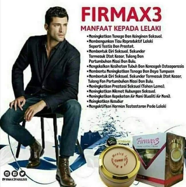 Testimoni Firmax3 untuk Merawat Penyakit Lelaki