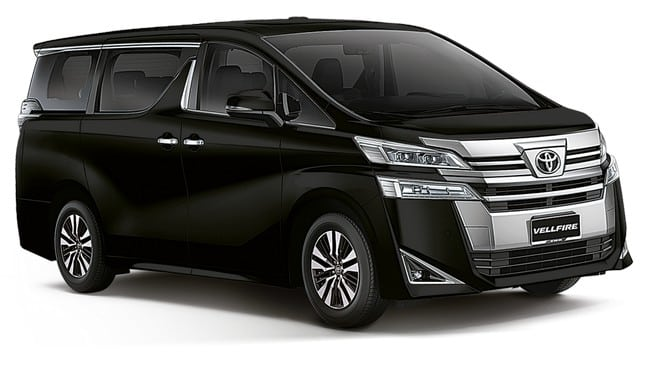 toyota vellfire 2.4 car rental