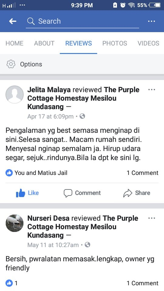 testimoni homestay the purple cottage