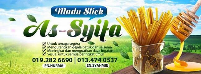 tempahan madu stick murah