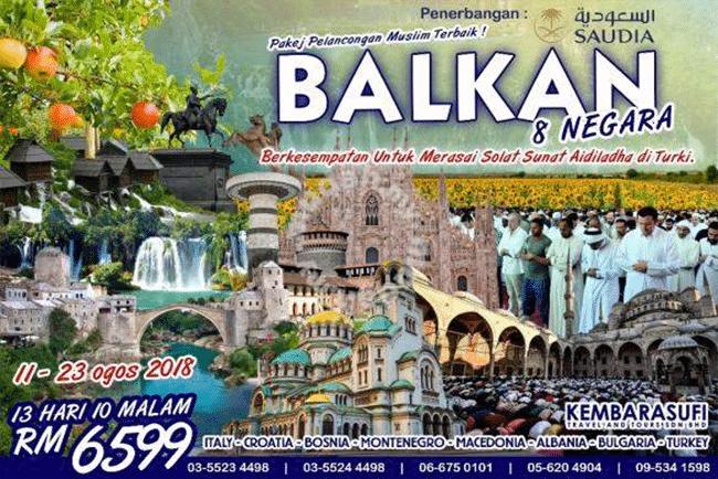 Pakej Pelancongan Balkan Murah