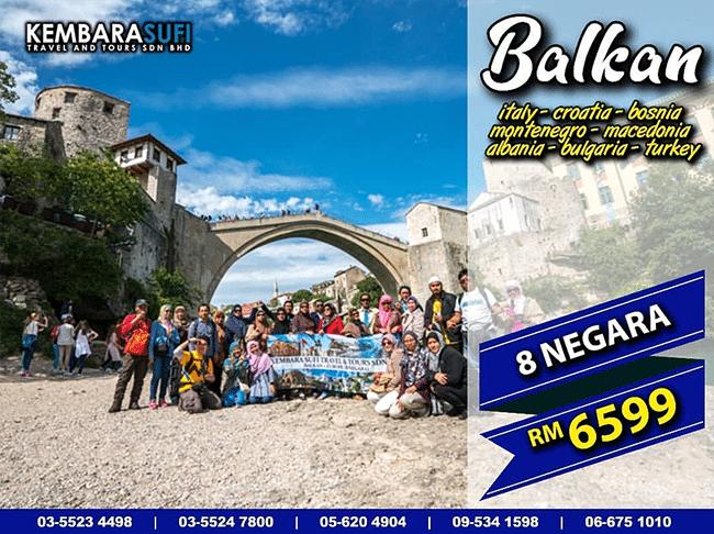 Pakej Pelancongan Balkan Santai