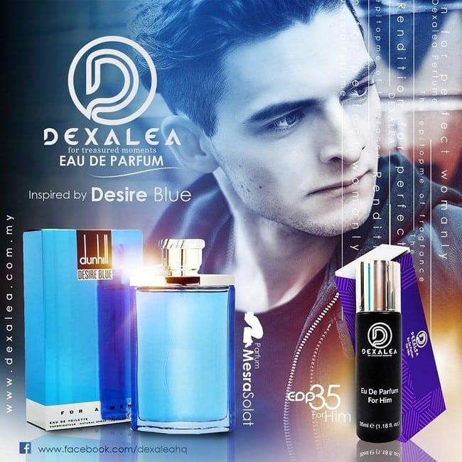perfume dexalea murah dan tahan lama desire blue