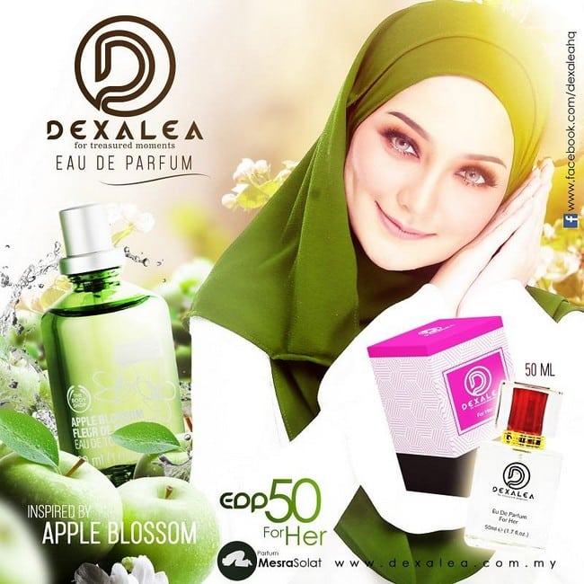 perfume dexalea murah dan tahan lama apple blossom