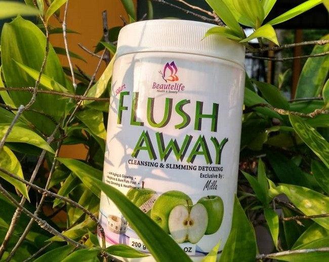 flush away bantu usus bersih