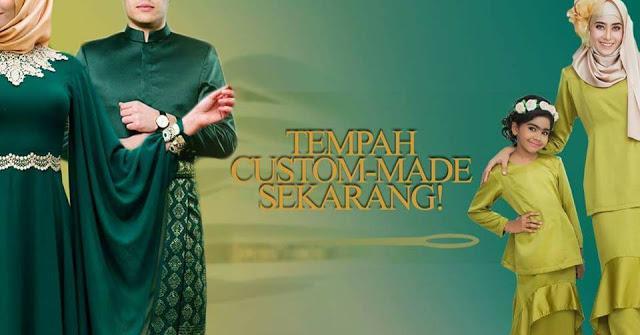 tempahan baju eksklusif untuk majlis rasmi custom made