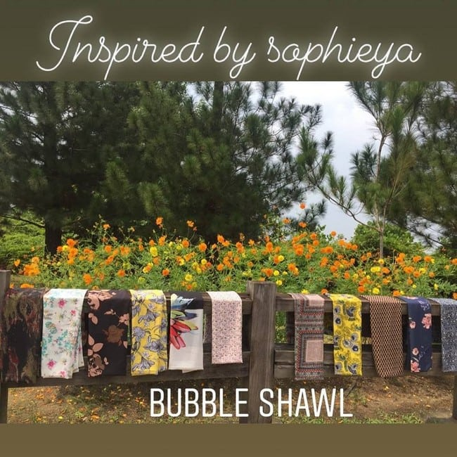 bubble shawl tudung selendang