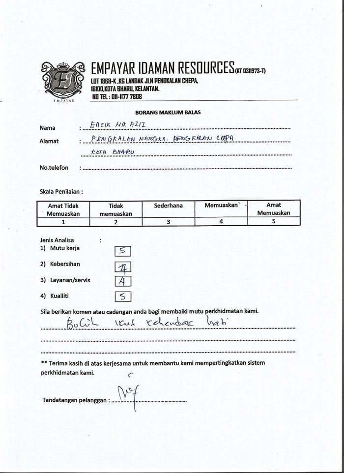Ada Kabinet Dapur Murah di Kelantan