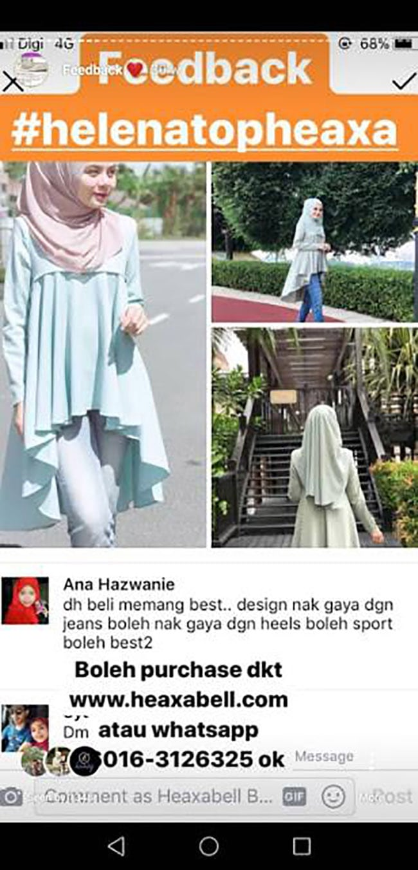 Pakaian Muslimah Heaxabell Best
