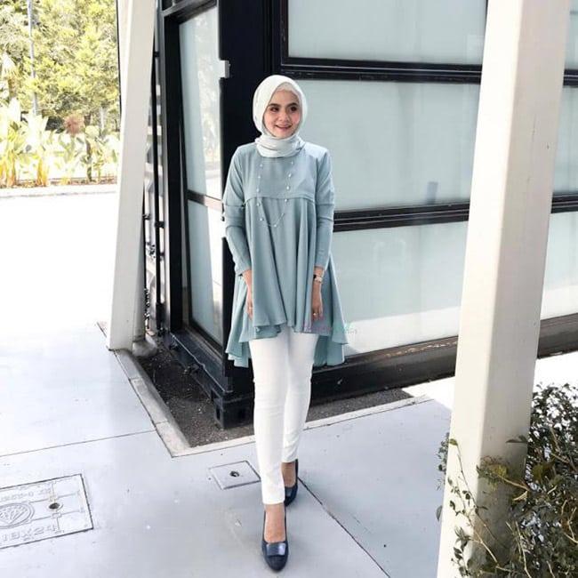 Pakaian Muslimah Heaxabell Biru