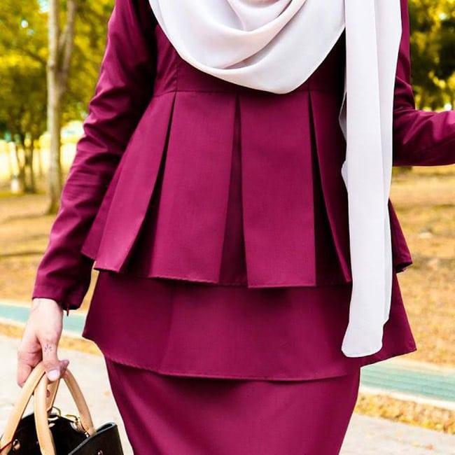 Pakaian Muslimah Heaxabell Peplum