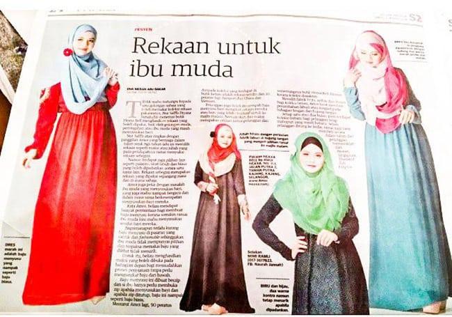 Pakaian Muslimah Heaxabell Surat Khabar