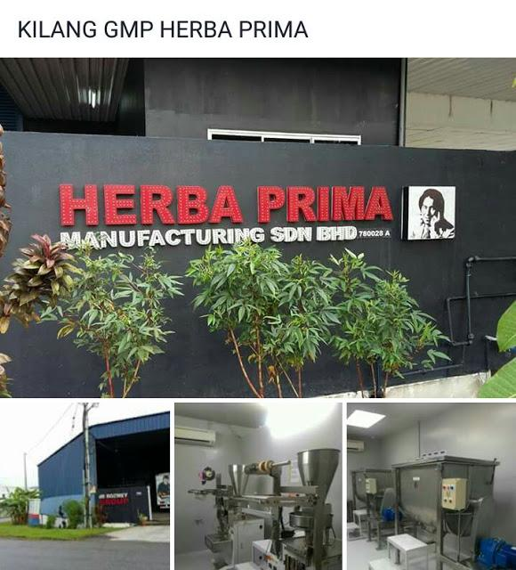 kilang jus mate 5 herba prima marketing