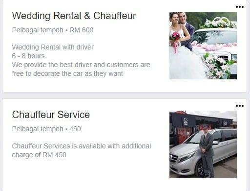 servis wedding car murah di johor