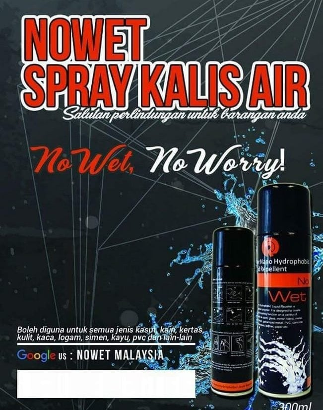 nowet spray kasut kalis air