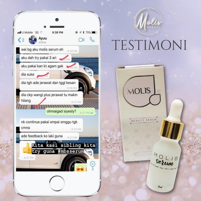 testimoni molis beauty serum